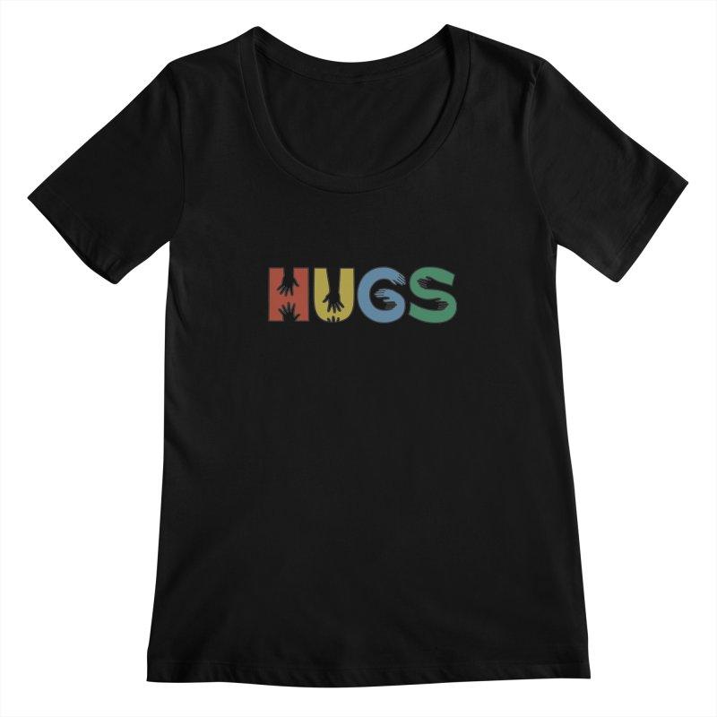 HUGS (Color) Women's Scoopneck by Hi Hello Greetings