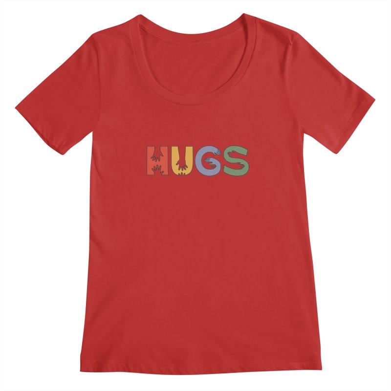 HUGS (Color) Women's Regular Scoop Neck by Hi Hello Greetings