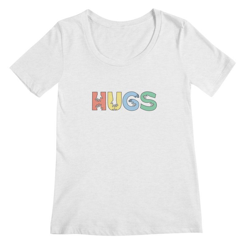 HUGS (Color) Women's Regular Scoop Neck by Hi Hello Greetings