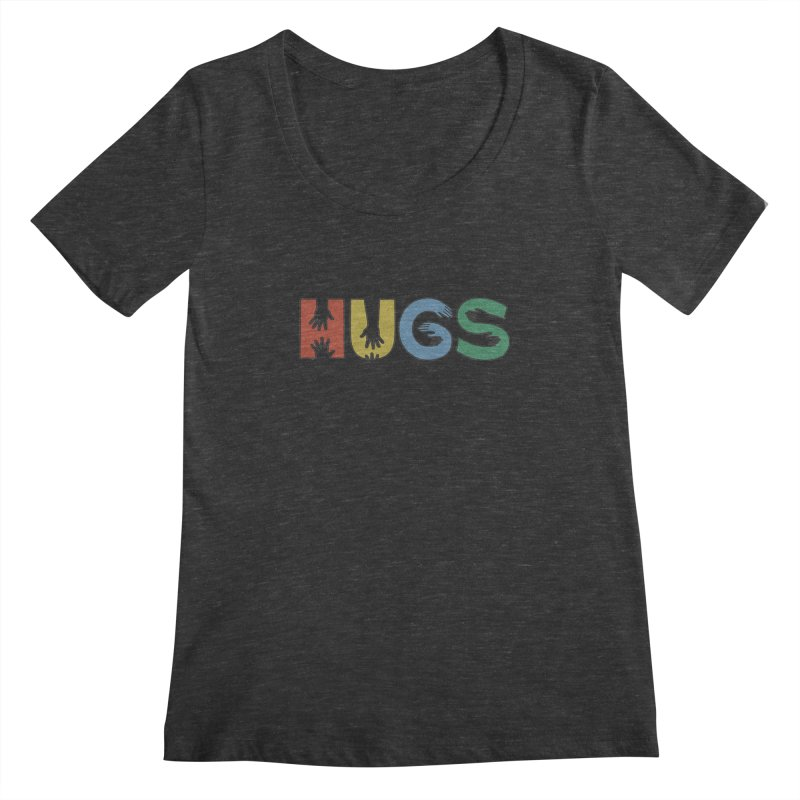 HUGS (Color) Women's Scoopneck by Hi Hello Greetings