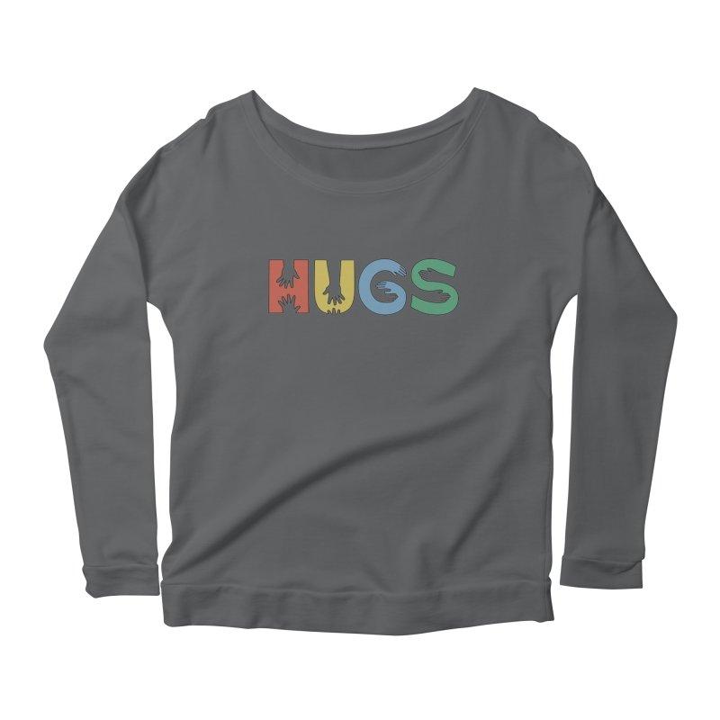 HUGS (Color) Women's Longsleeve Scoopneck  by Hi Hello Greetings