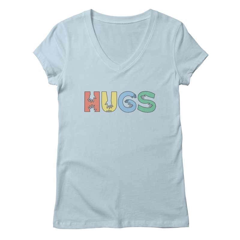 HUGS (Color) Women's V-Neck by Hi Hello Greetings