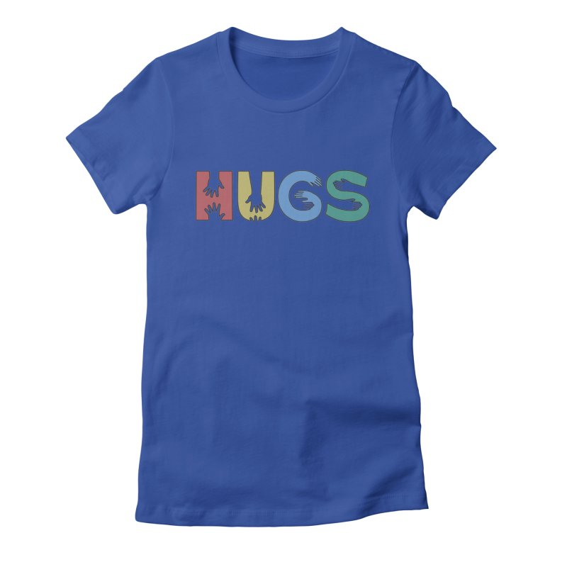 HUGS (Color) Women's Fitted T-Shirt by Hi Hello Greetings