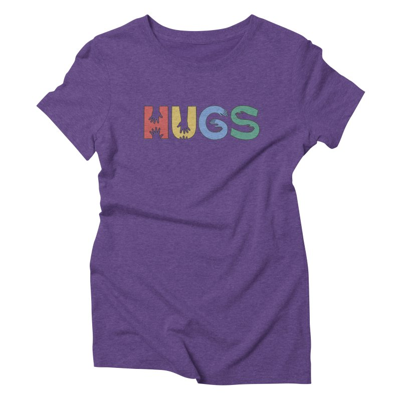 HUGS (Color) Women's Triblend T-Shirt by Hi Hello Greetings