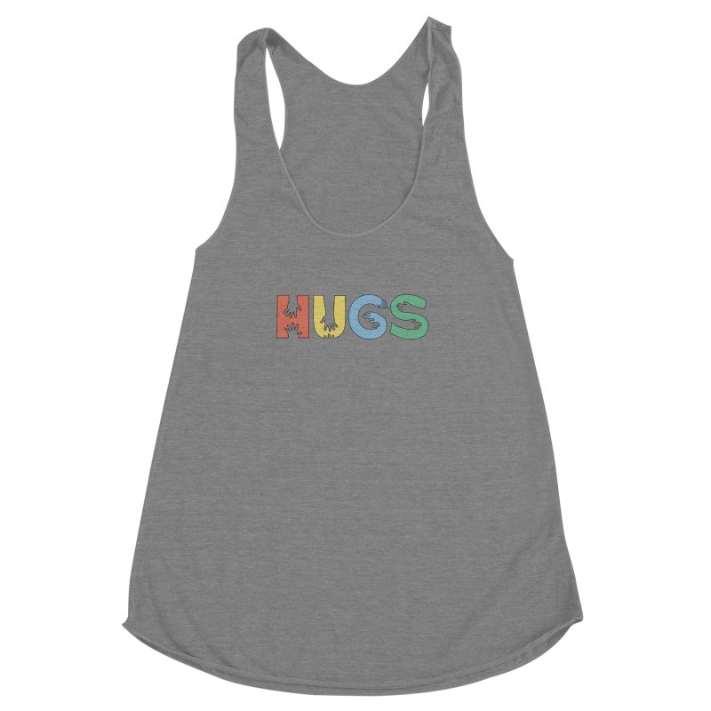 HUGS (Color) Women's Racerback Triblend Tank by Hi Hello Greetings