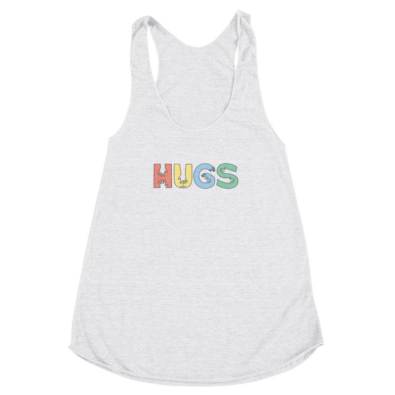 HUGS (Color) Women's Racerback Triblend Tank by Hi Hello Greetings