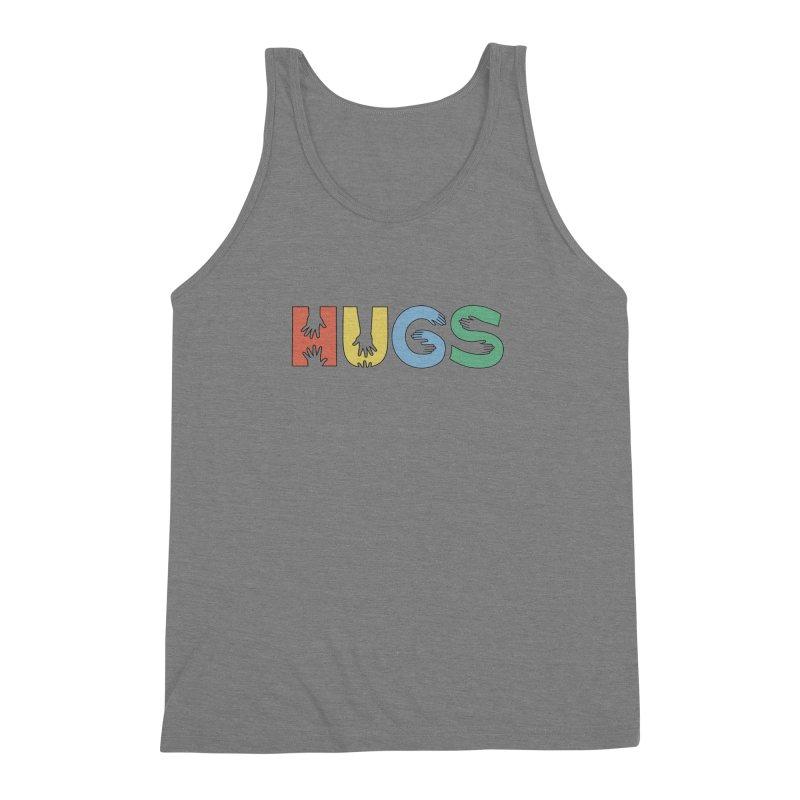 HUGS (Color) Men's Triblend Tank by Hi Hello Greetings