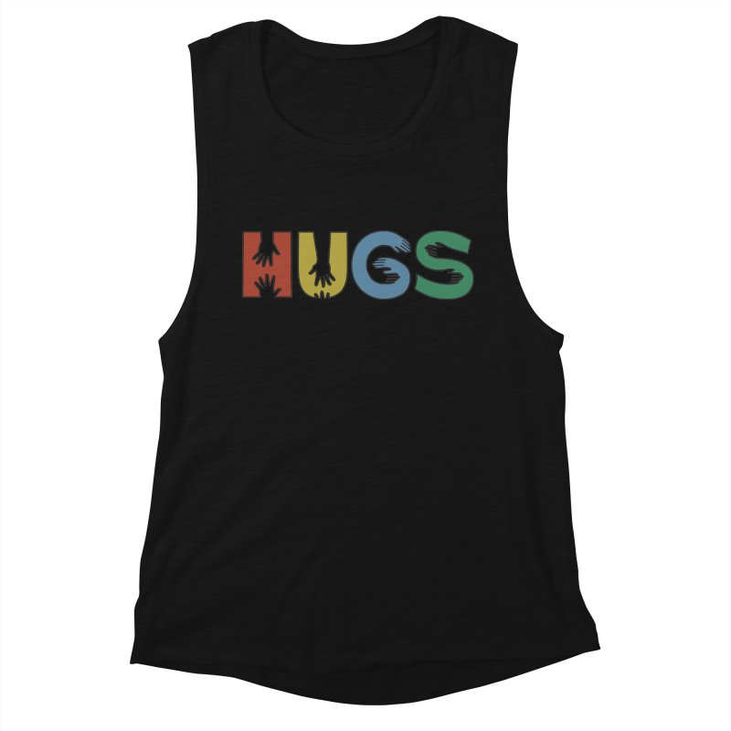 HUGS (Color) Women's Muscle Tank by Hi Hello Greetings