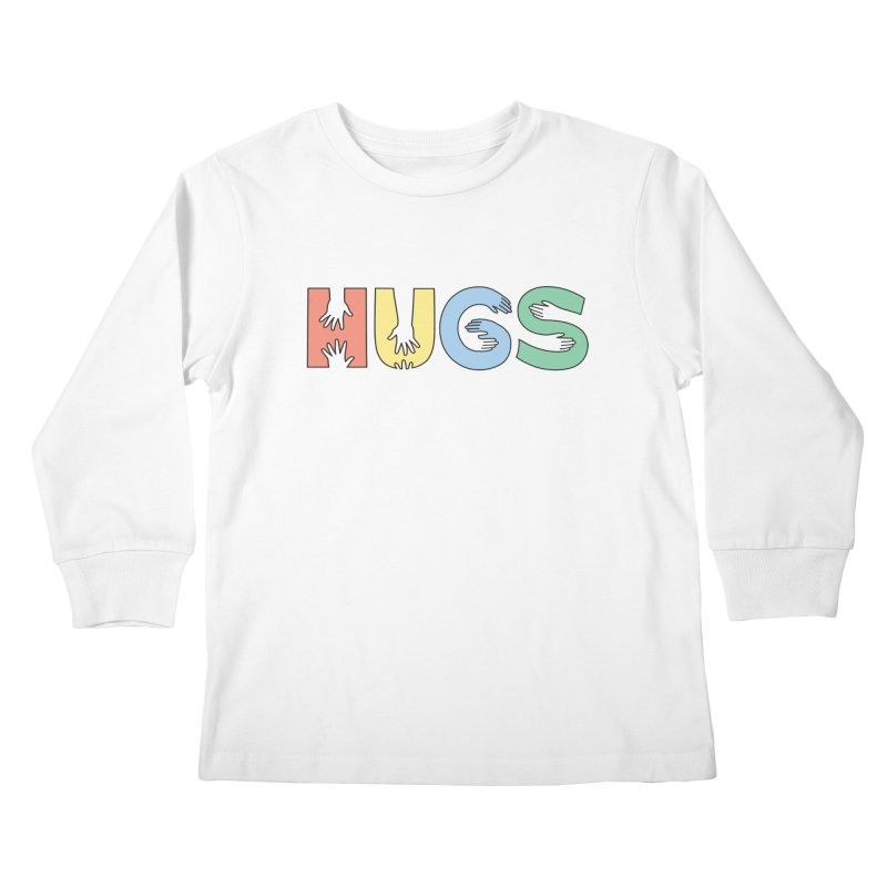 HUGS (Color) Kids Longsleeve T-Shirt by Hi Hello Greetings