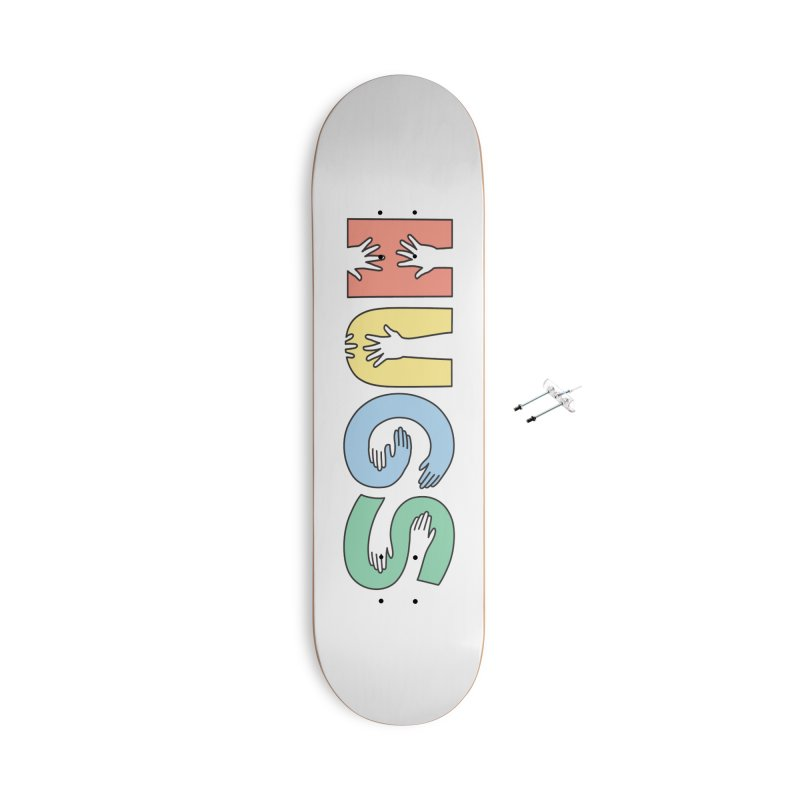 HUGS (Color) Accessories With Hanging Hardware Skateboard by Hi Hello Greetings