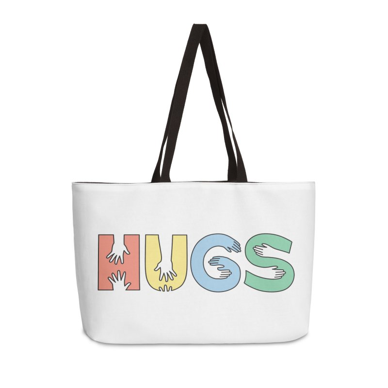 HUGS (Color) Accessories Weekender Bag Bag by Hi Hello Greetings