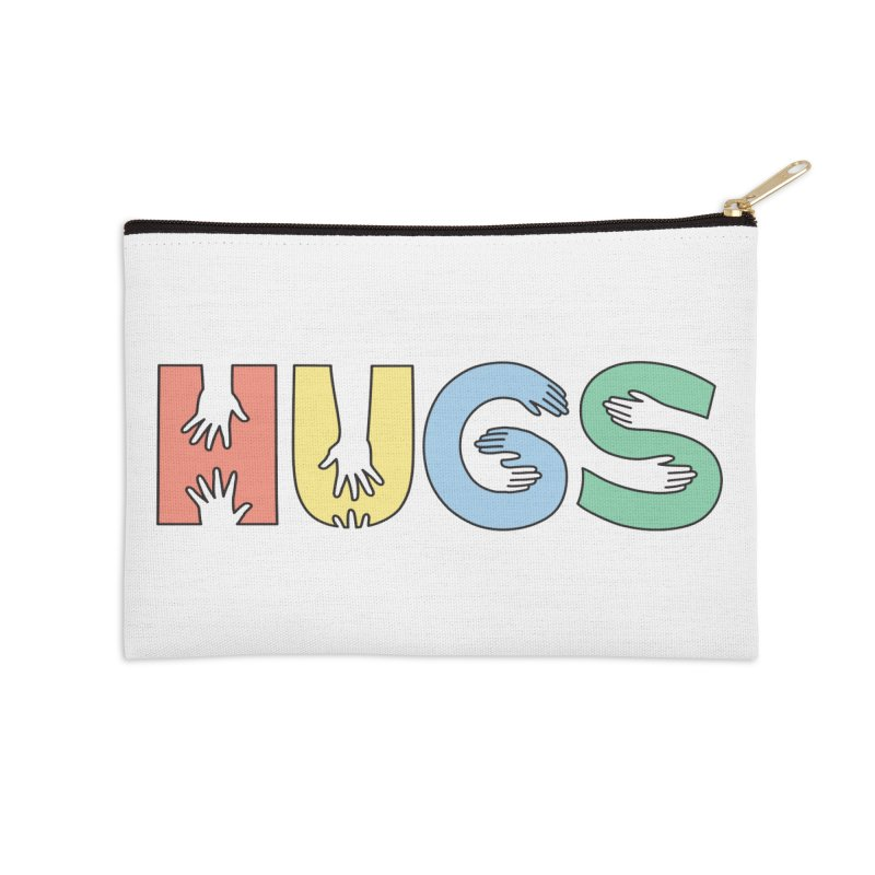 HUGS (Color) Accessories Zip Pouch by Hi Hello Greetings