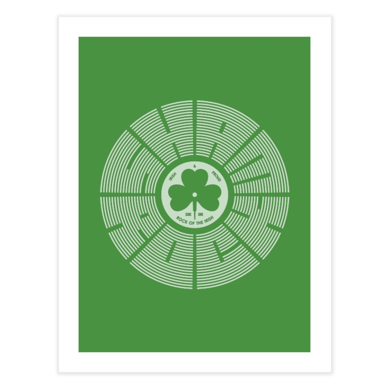 SHAMROCK (White) Home Fine Art Print by Hi Hello Greetings