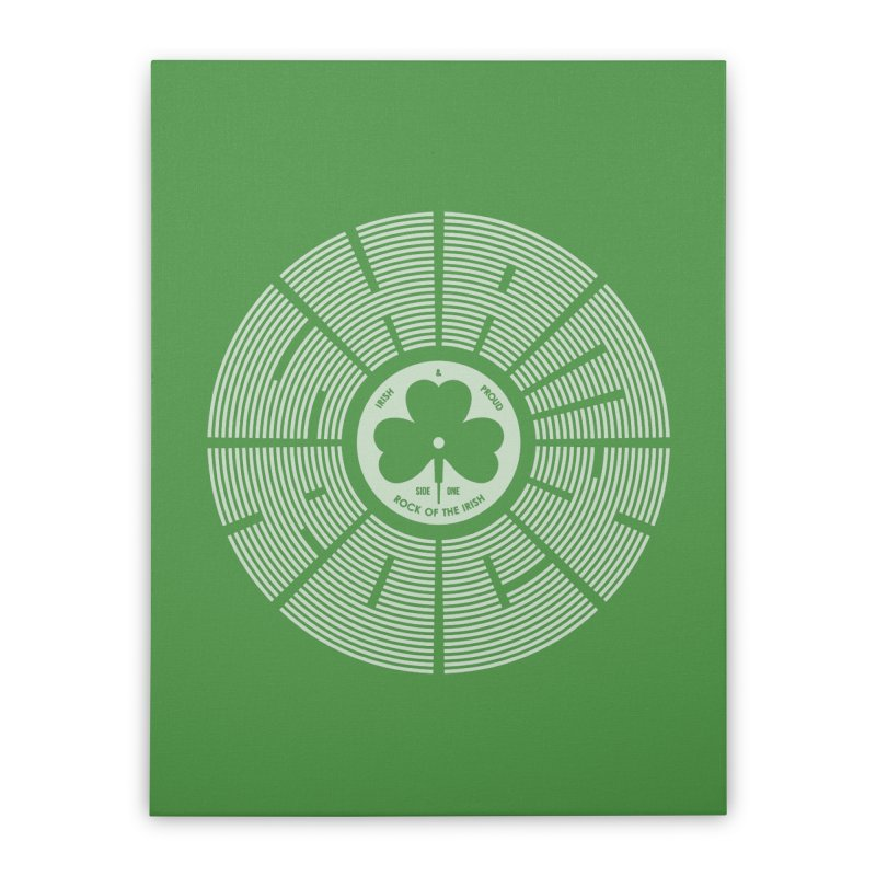 SHAMROCK (White) Home Stretched Canvas by Hi Hello Greetings