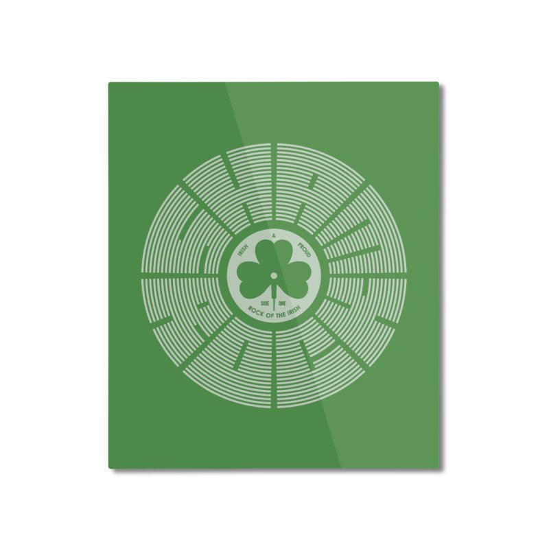 SHAMROCK (White) Home Mounted Aluminum Print by Hi Hello Greetings