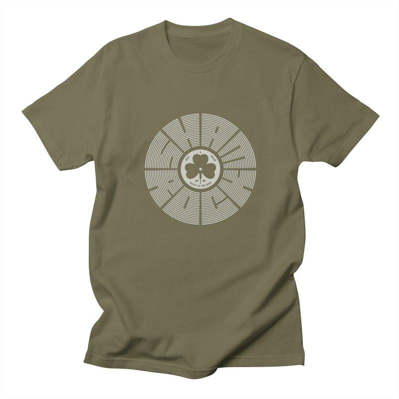 SHAMROCK (White) Men's Regular T-Shirt by Hi Hello Greetings