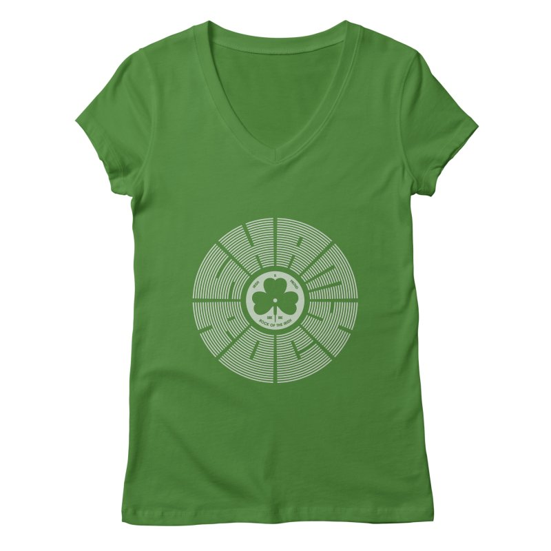 SHAMROCK (White) Women's V-Neck by Hi Hello Greetings