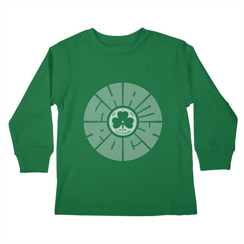 SHAMROCK (White) Kids Longsleeve T-Shirt by Hi Hello Greetings