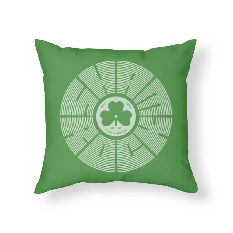 SHAMROCK (White) in Throw Pillow by Hi Hello Greetings