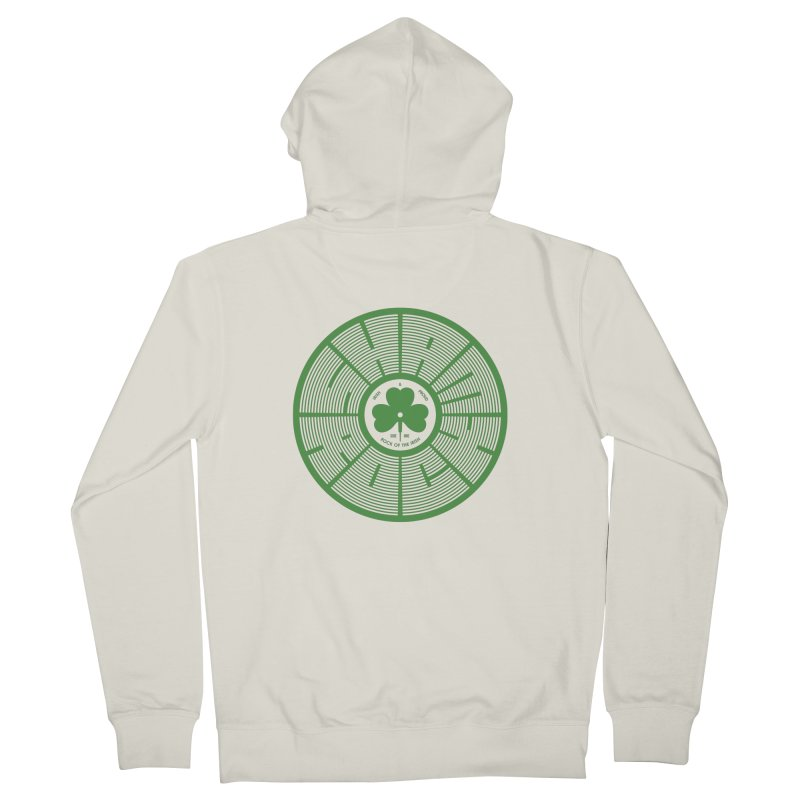 SHAMROCK (Clover) Men's Zip-Up Hoody by Hi Hello Greetings