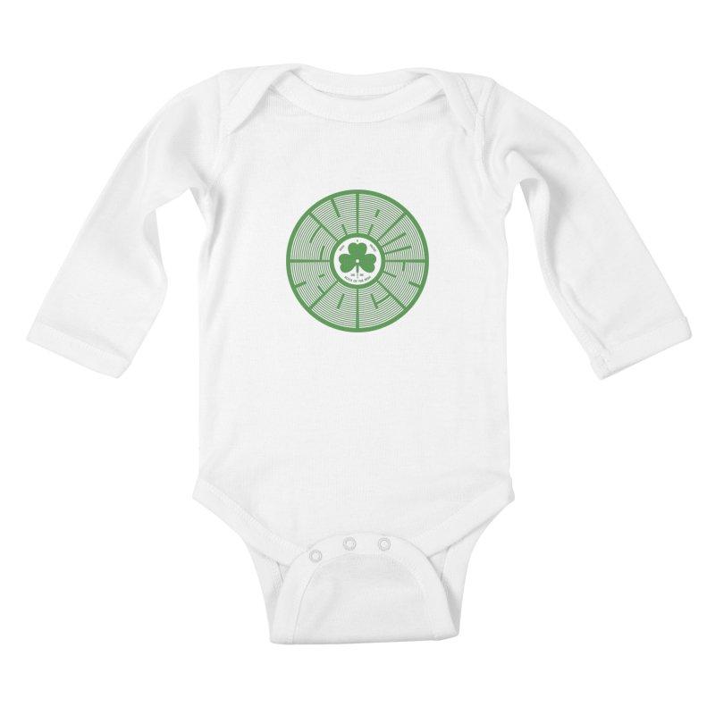 SHAMROCK (Clover) Kids Baby Longsleeve Bodysuit by Hi Hello Greetings