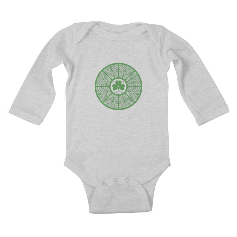 SHAMROCK (Clover) Kids Baby Longsleeve Bodysuit by Hi Hello Greetings