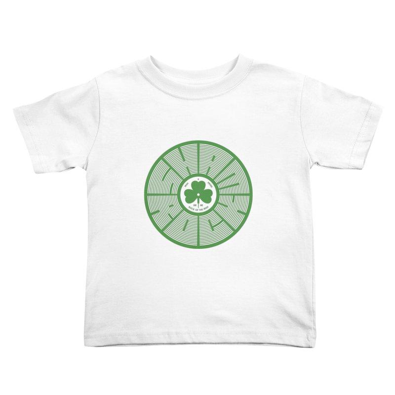SHAMROCK (Clover) Kids Toddler T-Shirt by Hi Hello Greetings