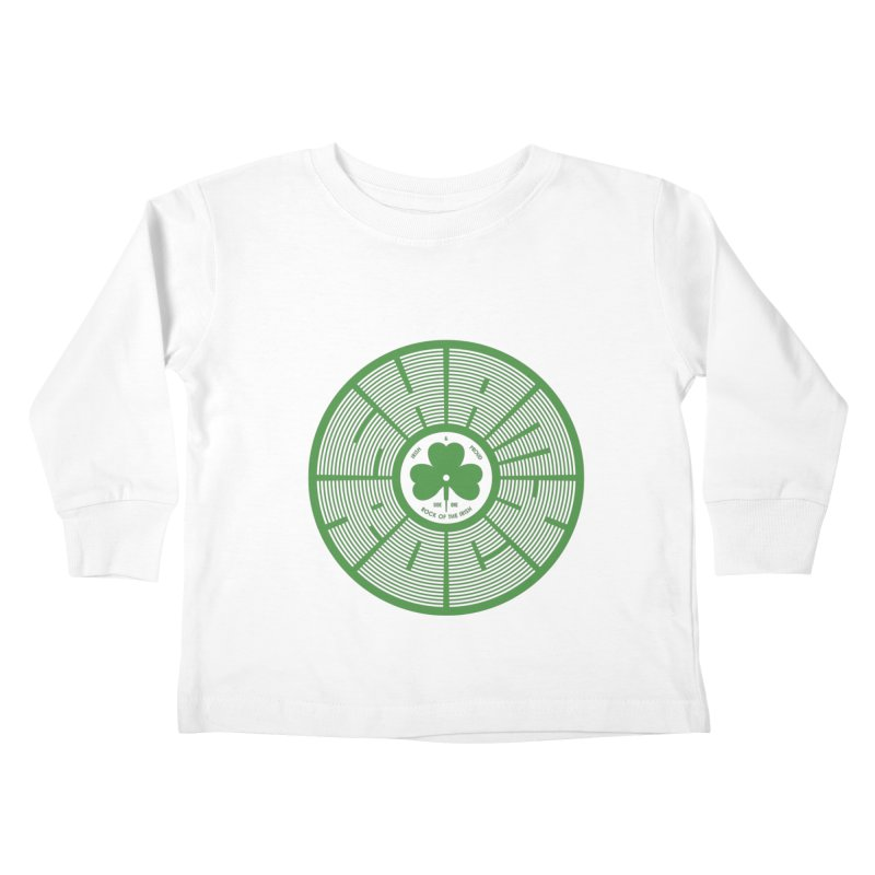 SHAMROCK (Clover) Kids Toddler Longsleeve T-Shirt by Hi Hello Greetings