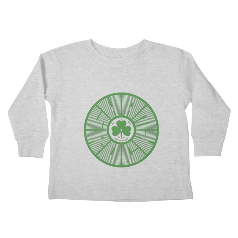 SHAMROCK (Clover) Kids Toddler Longsleeve T-Shirt by Hi Hello Greetings