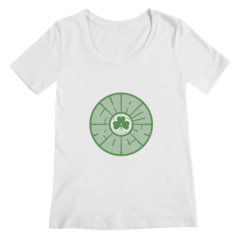 SHAMROCK (Clover) Women's Scoopneck by Hi Hello Greetings