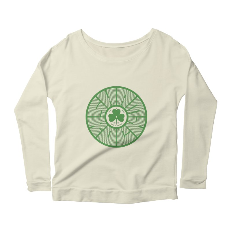 SHAMROCK (Clover) Women's Longsleeve Scoopneck  by Hi Hello Greetings