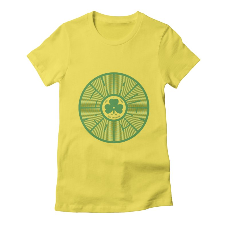 SHAMROCK (Clover) Women's Fitted T-Shirt by Hi Hello Greetings
