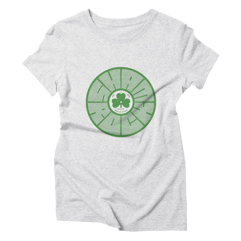 SHAMROCK (Clover) Women's Triblend T-Shirt by Hi Hello Greetings