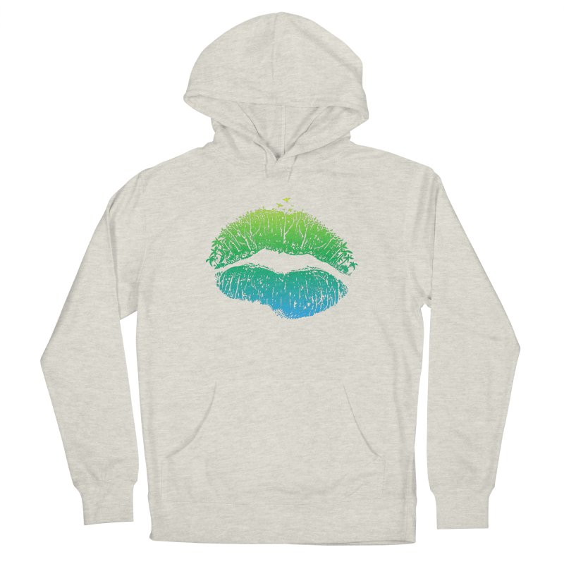Kiss Island Men's French Terry Pullover Hoody by Hi Hello Greetings