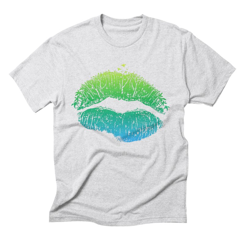 Kiss Island Men's Triblend T-Shirt by Hi Hello Greetings