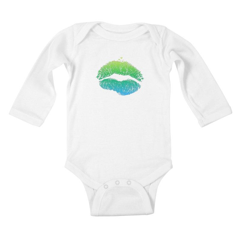 Kiss Island Kids Baby Longsleeve Bodysuit by Hi Hello Greetings
