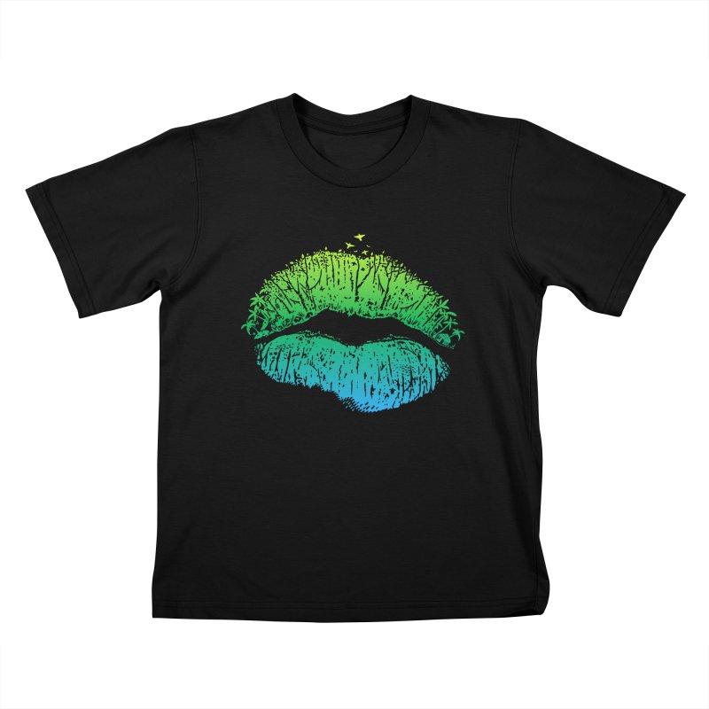 Kiss Island Kids T-Shirt by Hi Hello Greetings