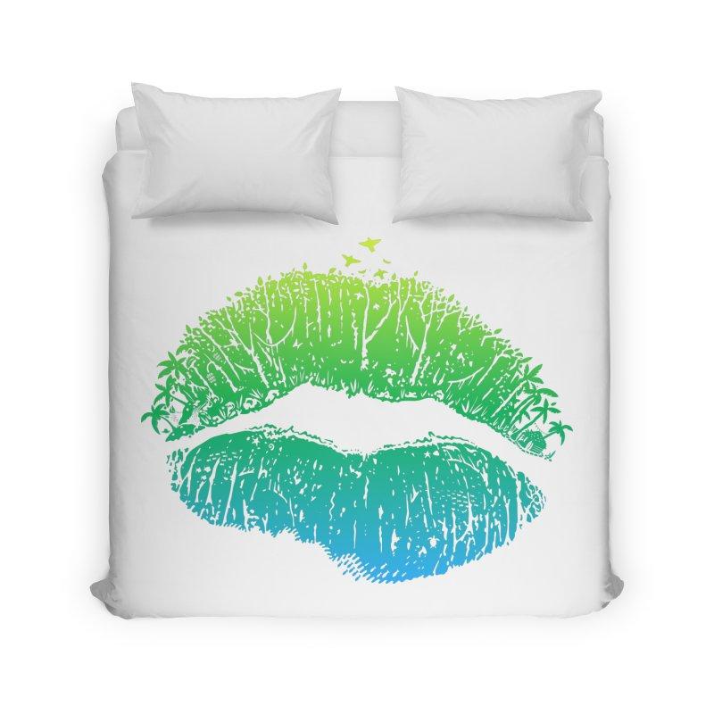 Kiss Island Home Duvet by Hi Hello Greetings