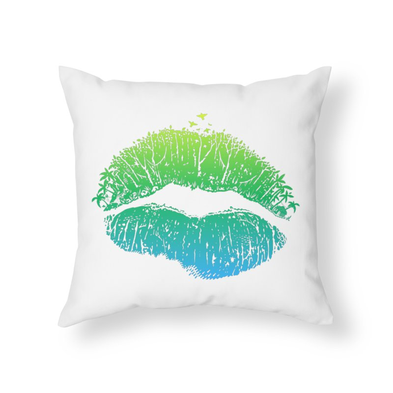 Kiss Island Home Throw Pillow by Hi Hello Greetings