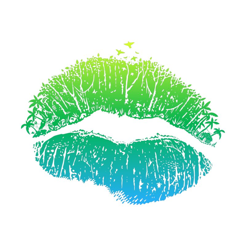 Kiss Island Women's Triblend T-Shirt by Hi Hello Greetings