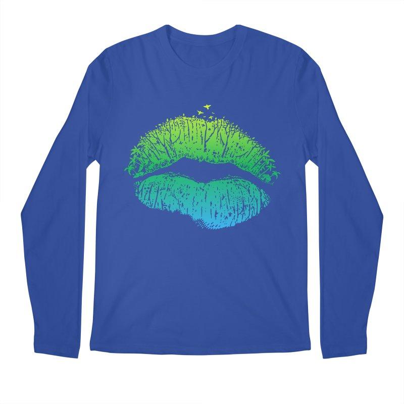 Kiss Island Men's Longsleeve T-Shirt by Hi Hello Greetings