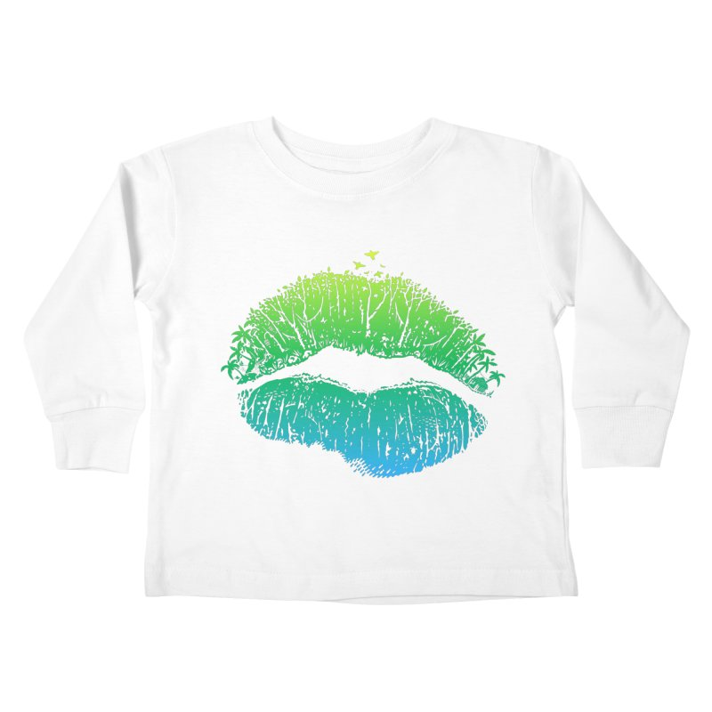Kiss Island Kids Toddler Longsleeve T-Shirt by Hi Hello Greetings
