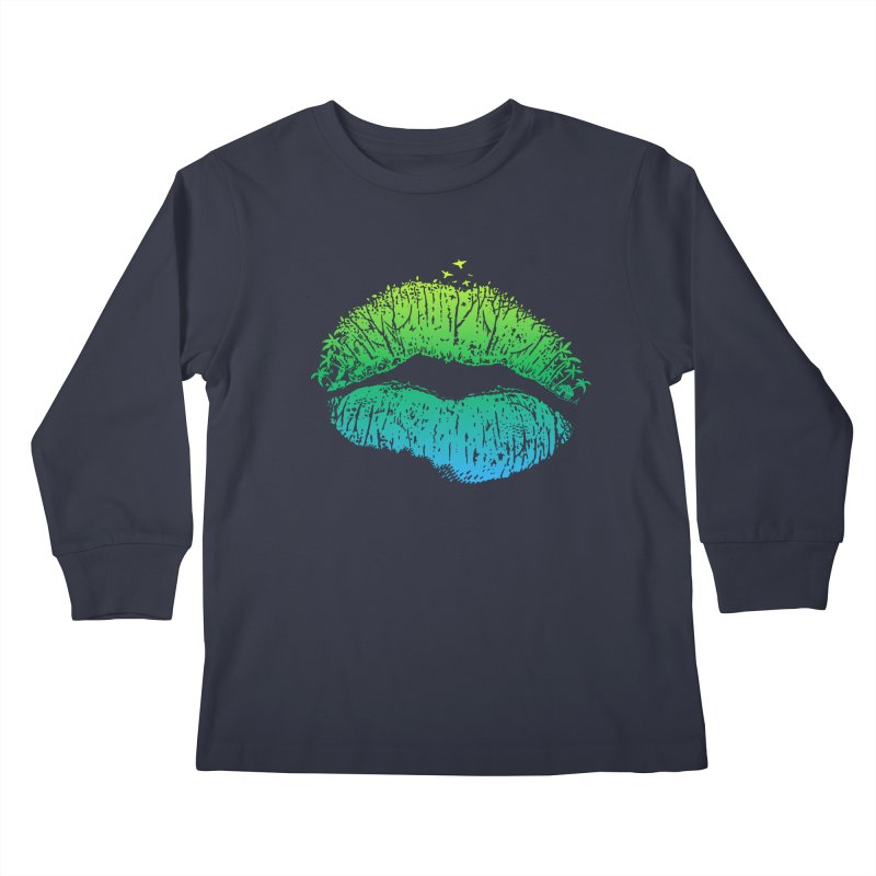 Kiss Island Kids Longsleeve T-Shirt by Hi Hello Greetings