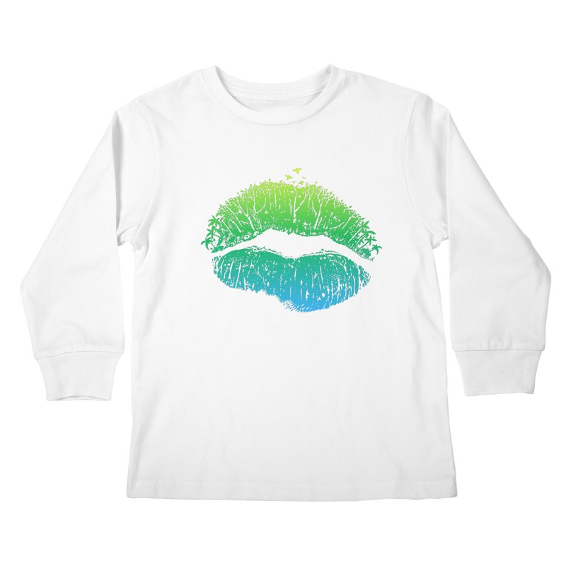 Kiss Island Kids Longsleeve T-Shirt by Hi Hello Greetings