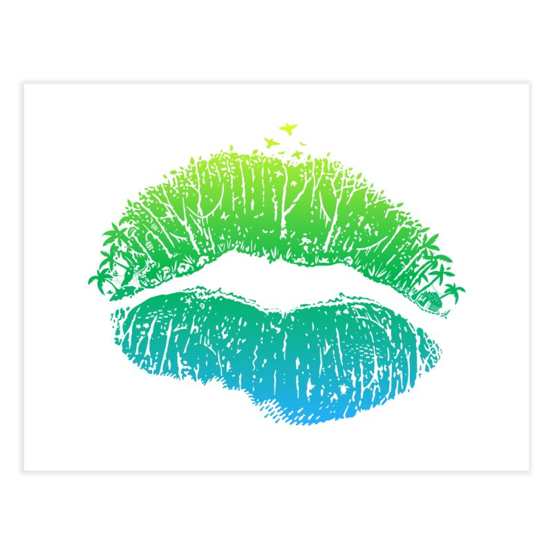 Kiss Island Home Fine Art Print by Hi Hello Greetings