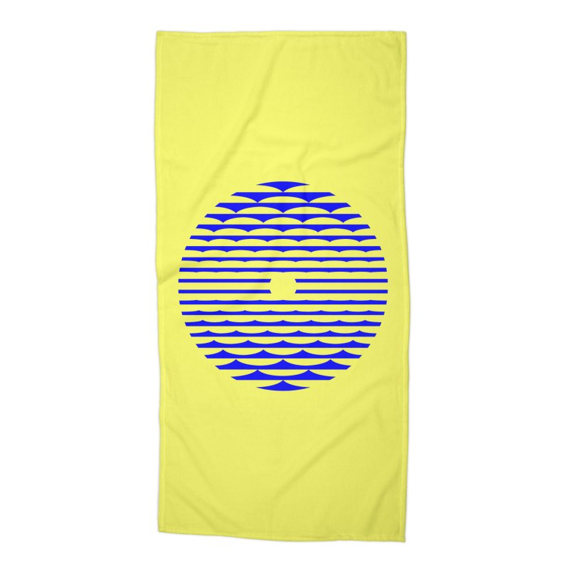 The Binding Light (BLUE) Accessories Beach Towel by Hi Hello Greetings