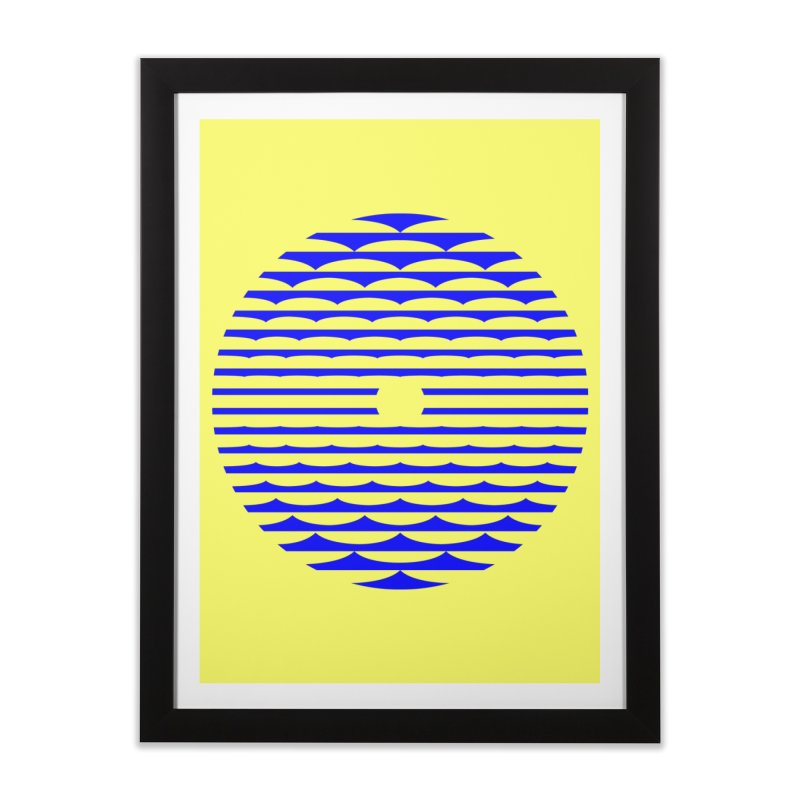 The Binding Light (BLUE) Home Framed Fine Art Print by Hi Hello Greetings