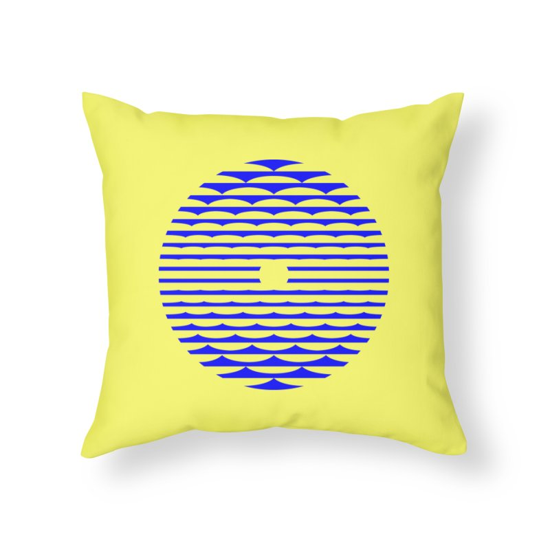 The Binding Light (BLUE) Home Throw Pillow by Hi Hello Greetings
