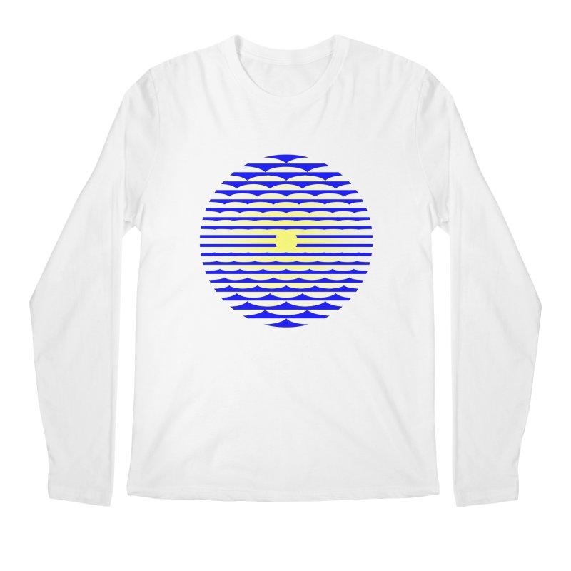 The Binding Light (BLUE/YELLOW) Men's Longsleeve T-Shirt by Hi Hello Greetings