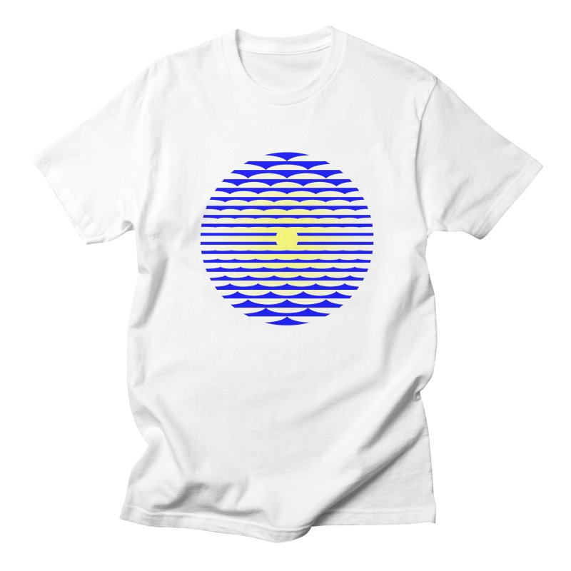 The Binding Light (BLUE/YELLOW) Men's T-Shirt by Hi Hello Greetings